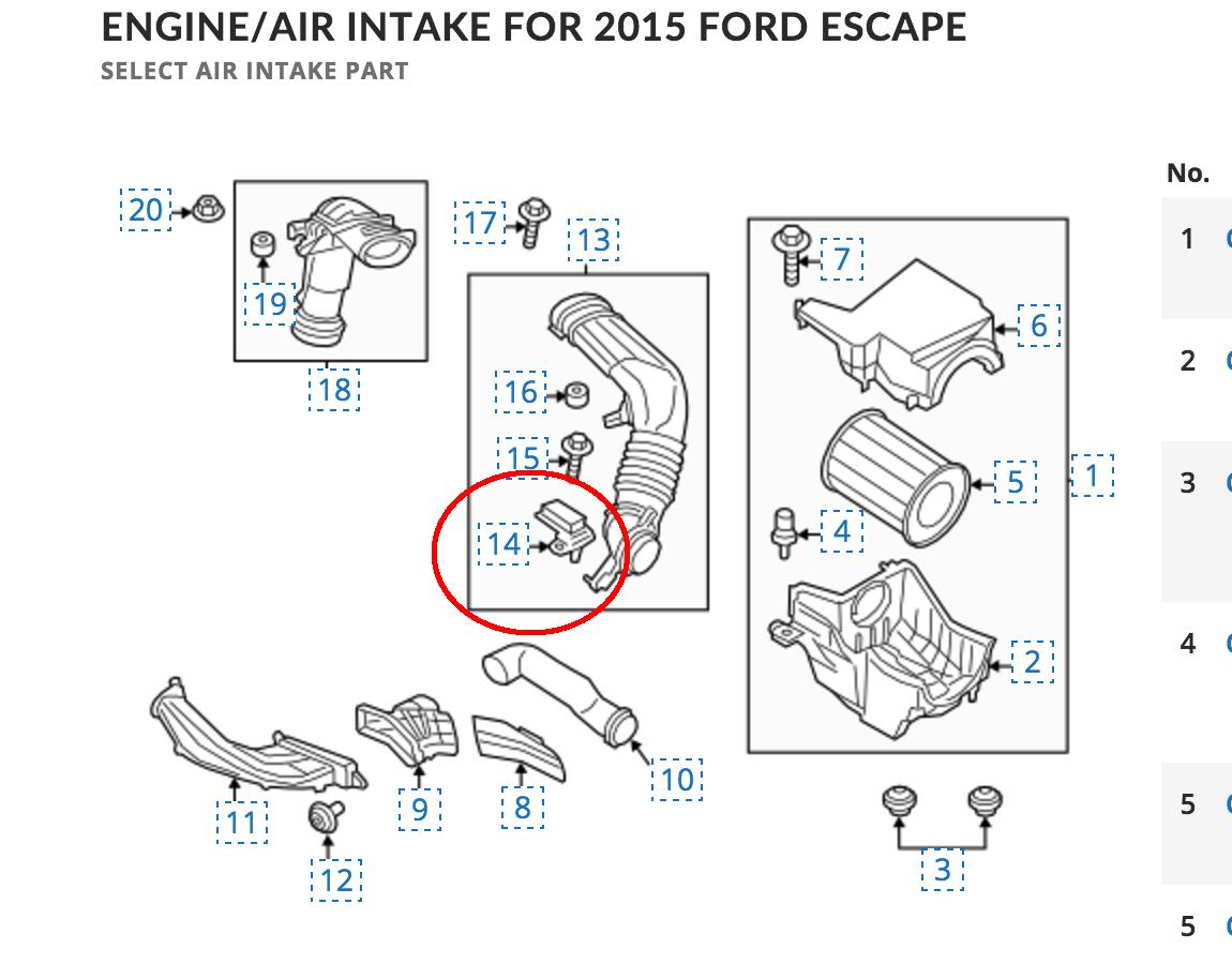 MAF Sensor | 2013+ Ford Escape Forum