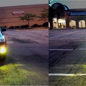 Yellow Fogs and Low beams view of car.jpg